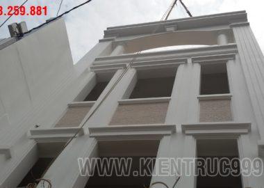 Thi công cải tạo nhà phố cổ điển 4 tầng của chú Khoa - Bình Thạnh