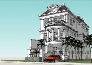 Biệt thự đẹp, Biệt thự cổ điển TP Nha Trang, mẫu nhà 3 tầng