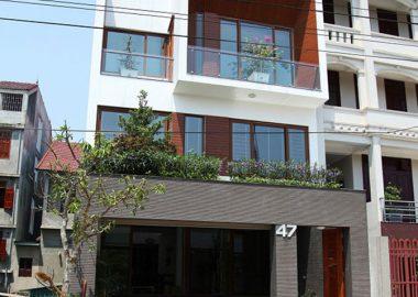 Mặt tiền nhà phố 7.5m đẹp, mẫu thiết kế nhà phố 3 tầng có mặt tiền dài đẹp.