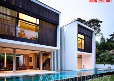 Biệt thự 2 tầng đẹp với thiết kế rất hiện đại ở Singapor