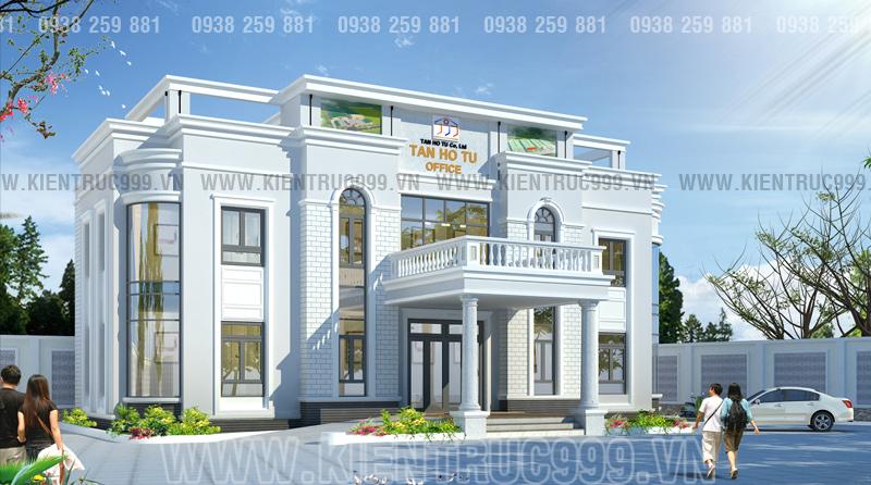 Trụ sở làm việc công ty Tân Hồ Tú - Văn phòng 2 tầng  phong cách tân cổ điển.