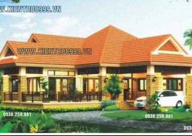 Thiết kế nhà vườn một tầng đẹp phong cách Thái Lan.