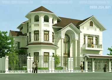 Biệt thự cổ điển đẹp - biệt thự 3 tầng đẹp huyện Củ Chi.