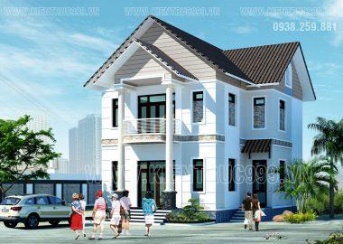 Biệt thự 2 tầng đẹp Long Phước - Quân 9- Tp.HCM , thiết kế biệt thự giá rẻ