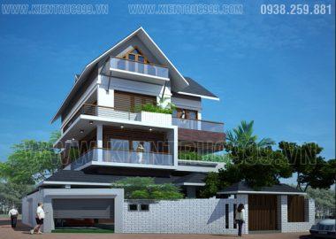 Biệt thự đẹp hiện đại Đaklak - Biệt thự 3 tầng với thiết kế cao cấp