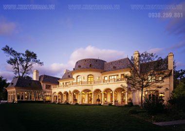 Tráng lệ biệt thự lâu đài kiểu Châu Âu.