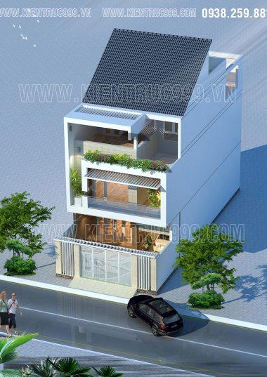 Mặt tiền nhà phố 7m5 đẹp hiện đại giữa Buôn Mê