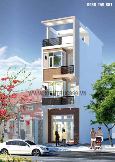 Nhà phố 3 tầng đẹp- Q9, thiết kế nhà phố mặt tiền 4m đẹp.