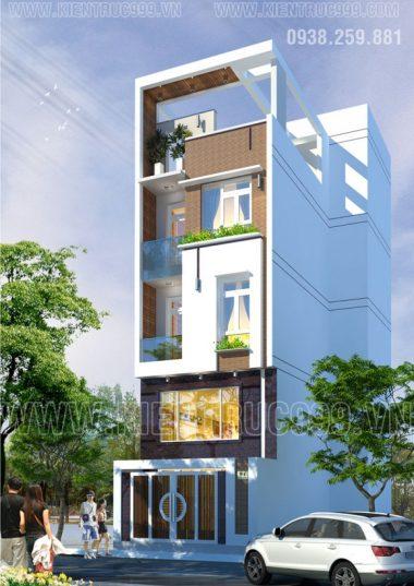 Thiết kế nhà đẹp- Nhà phố 4 tầng đẹp Q1-TP.HCM