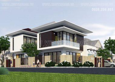 Thiết kế biệt thự đẹp ở Quảng Ngãi, Biệt thự 2 tầng đẹp đến  tối giản.