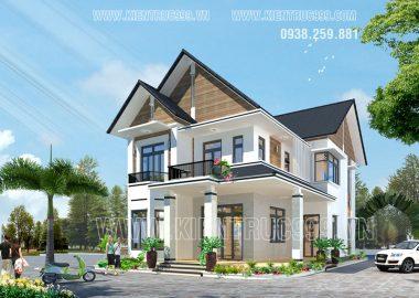 Thiết kế nhà đẹp năm 2017 với mẫu biệt thự sân vườn 2 tầng đẹp hiền hòa ở vùng ngoại ô TPHCM.