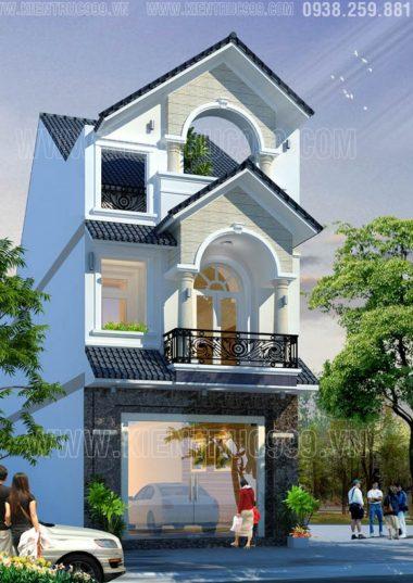 Nhà phố 2 tầng mặt tiền 5.5m gợi nét cổ điển nơi phố núi Buôn Mê.
