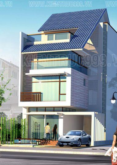 Biệt thự  quận 7-Thiết kế nhà đẹp quận 7 tphcm- Biệt thự 3 tầng đẹp.