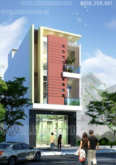 Thiết kế nhà phố đẹp 3 tầng cao nguyên Buôn Mê Thuột.