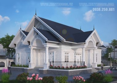 Biệt thự một tầng đẹp mạnh mẽ vững chãi ở Long An