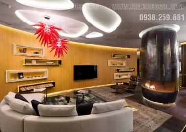 Một căn hộ đẹp bởi thiết kế nội thất khác thường .