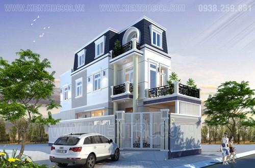 Nhà phố 2 mặt tiền đẹp phong cách tân cổ điển quận 12-TpHcm