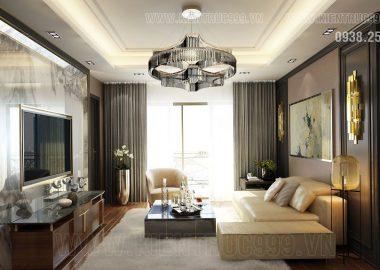 Thiết kế nội thất căn hộ đẹp với gam màu trầm
