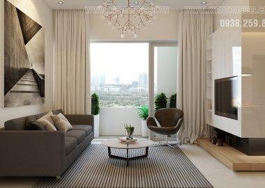 Thiết kế thi công nội thất căn hộ 2 phòng ngủ quận Tân Phú