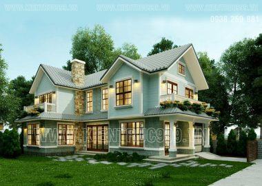 Mẫu nhà đẹp thiết kế nhà đẹp phong cách Việt ở Long Khánh - Đồng Nai
