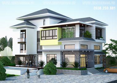 Thiết kế nhà nhà biệt thự đẹp cho đại gia đình 3 thế hệ ở Long Thành - Đồng Nai