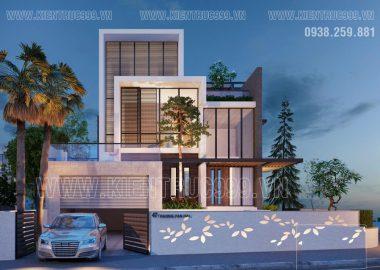Thiết kế nhà đẹp 4 tầng hiện đại bậc nhất Gia Nghĩa - ĐakNông