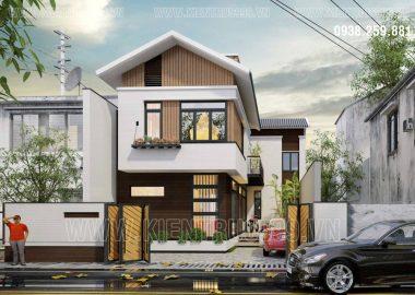 Thiết kế nhà đẹp 2 tầng Long Xuyên- An Giang.