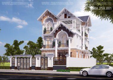 Thiết kế nhà đẹp 3 tầng đẹp kiêu sa ở Lái Thiêu-Bình Dương