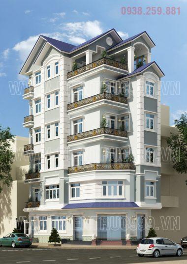 Thiết kế nhà đẹp- tiệm vàng 6 tầng Quy Nhơn - Bình Định
