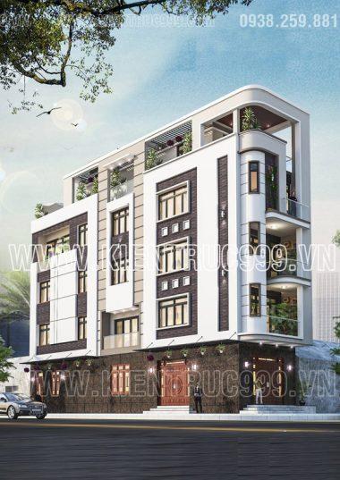 7 mẫu nhà vát góc 5 tầng đẹp - nhà đẹp 2 mặt tiền ấn tượng ngay góc phố 2018