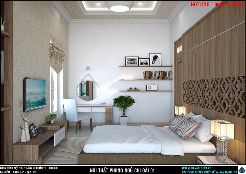 nhà đẹp 1 tầng Bạc liêu có nội thất được đầu tư trang trí chuyên nghiệp