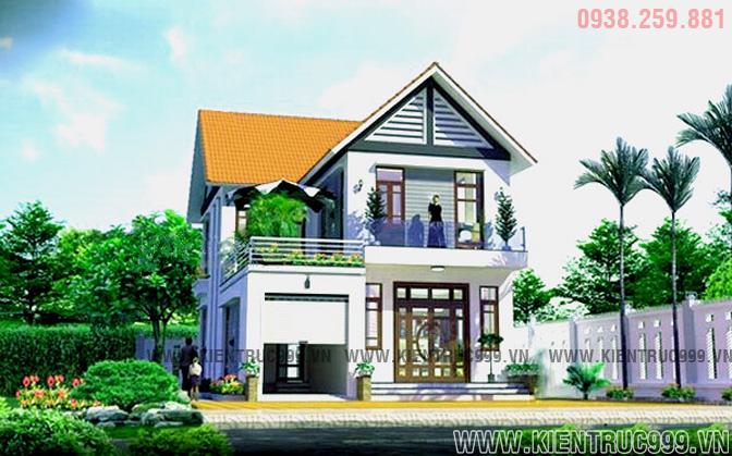 Biệt thự 2 tầng đẹp đơn giản phù hợp với sự lựa chọn của nhiều gia đình Việt nam