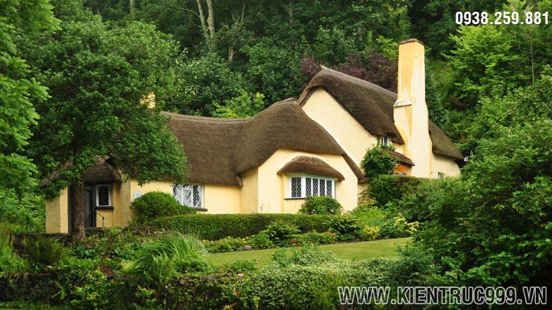 nhà 1 tầng đẹp mái tranh thơ mộng hữu tình