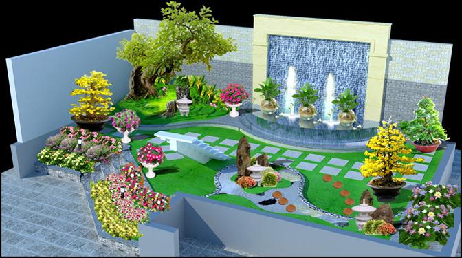 Sân vườn biệt thự đẹp