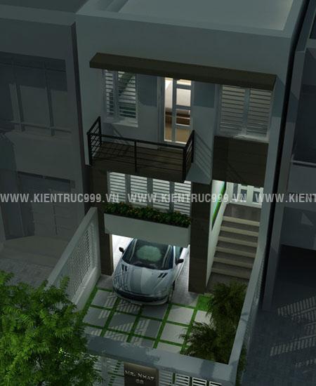 Thiết kế nhà đẹp với diện tích 5m x 20m