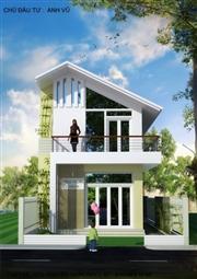 Thiết kế nhà 2 tầng hướng Tây
