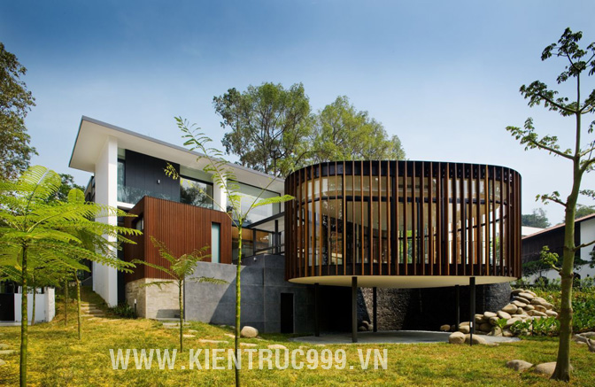 Biệt thự nước ngoài đẹp Screen House thiết kế tại Singapore