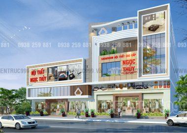 Thiết kế showroom nội thất gỗ ở quê nhà Bình Định