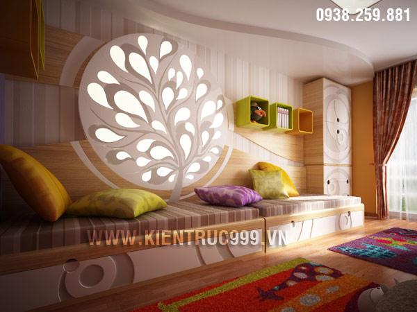 Phòng ngủ bé gái với thiết kế độc đáo, ấn tượng.