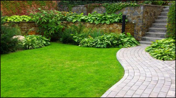 Lối nhỏ trong vườn tràn ngập sắc xuân, thiết kế nhà đẹp
