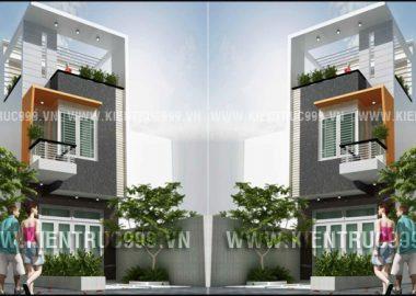 Nhà phố 2 tầng đẹp mặt tiền 4m đẹp đủ để yêu.