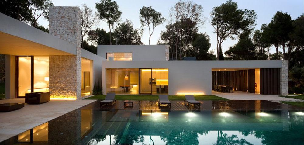 Biệt thự 1 tầng nước ngoài kiến trúc đẹp phong cách đương đại