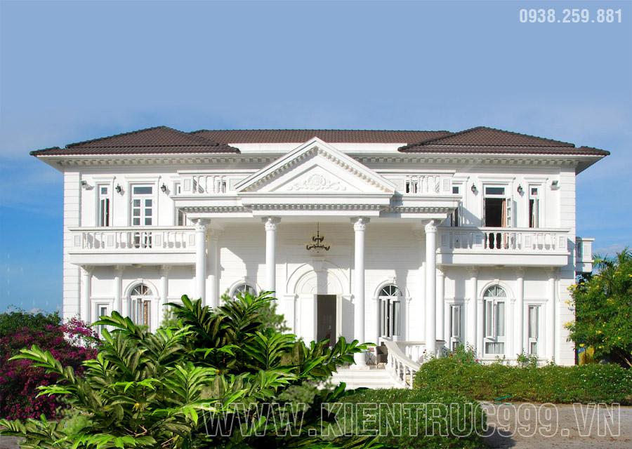 Thi công biệt thự Đồng Nai 2 tầng tân cổ điển