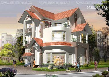 Kiến trúc biệt thự hiện đại đẹp.Mẫu biệt thự 3 tầng , 4 tầng đẹp