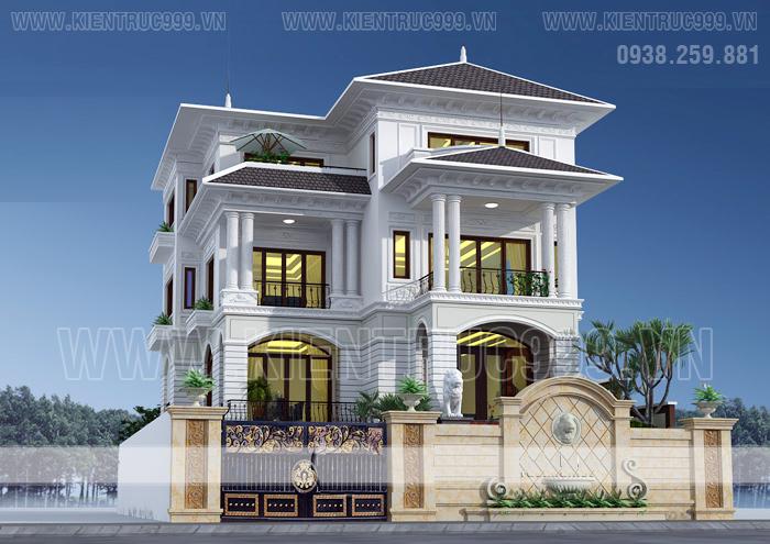 Biệt thự cổ điển 3 tầng đẹp tạo cho người sử dụng cảm giác bề thế và cũng rất hào hoa