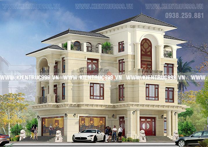 Biệt thự cổ điển 4 tầng đẹp hay biệt thự tân cổ điển đang được yêu thích rất nhiều