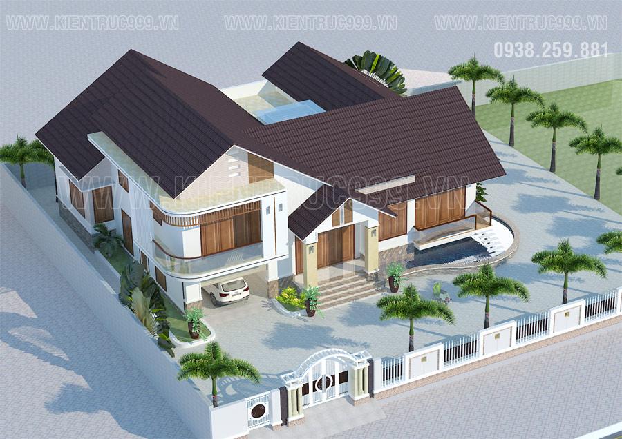 Biệt thự 1 tầng đẹp ở Tân Châu- An Giang