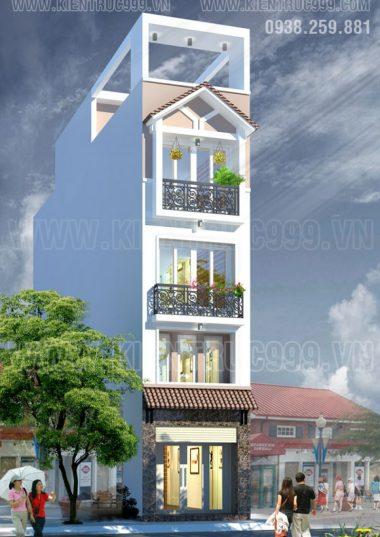 Thiết kế cải tạo nhà phố 4 tầng đẹp -Chị Mai- Nguyễn Trãi