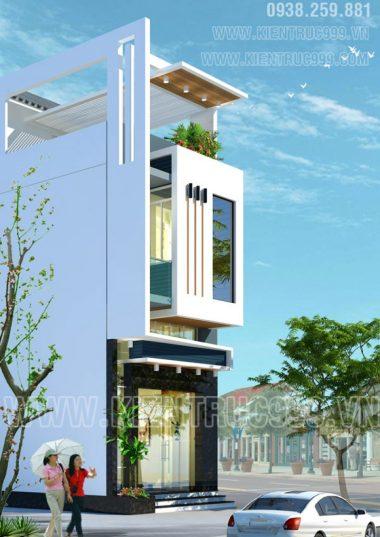 Thiết kế nhà phố lệch tầng đẹp - anh Quốc- Buôn Mê - Đaklak