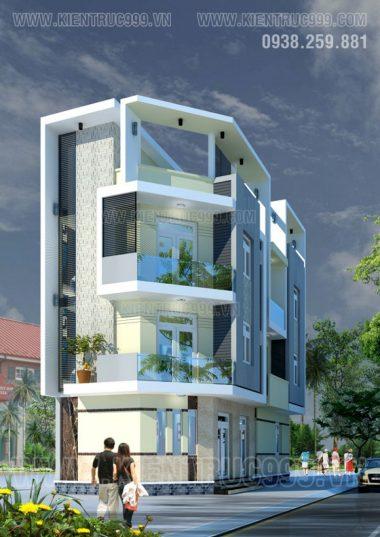 Thiết kế nhà phố 2 mặt tiền 3 tầng đẹp- Tân Kỳ Tân Quý - TPHCM.
